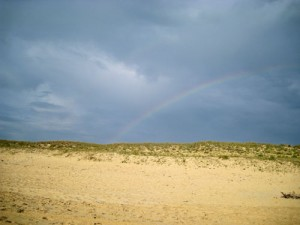 A rainbow in France at the beach