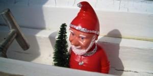 Christmas man with tree