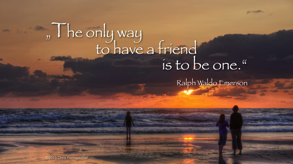 Be a friend. Picture by Chris Remspecher.