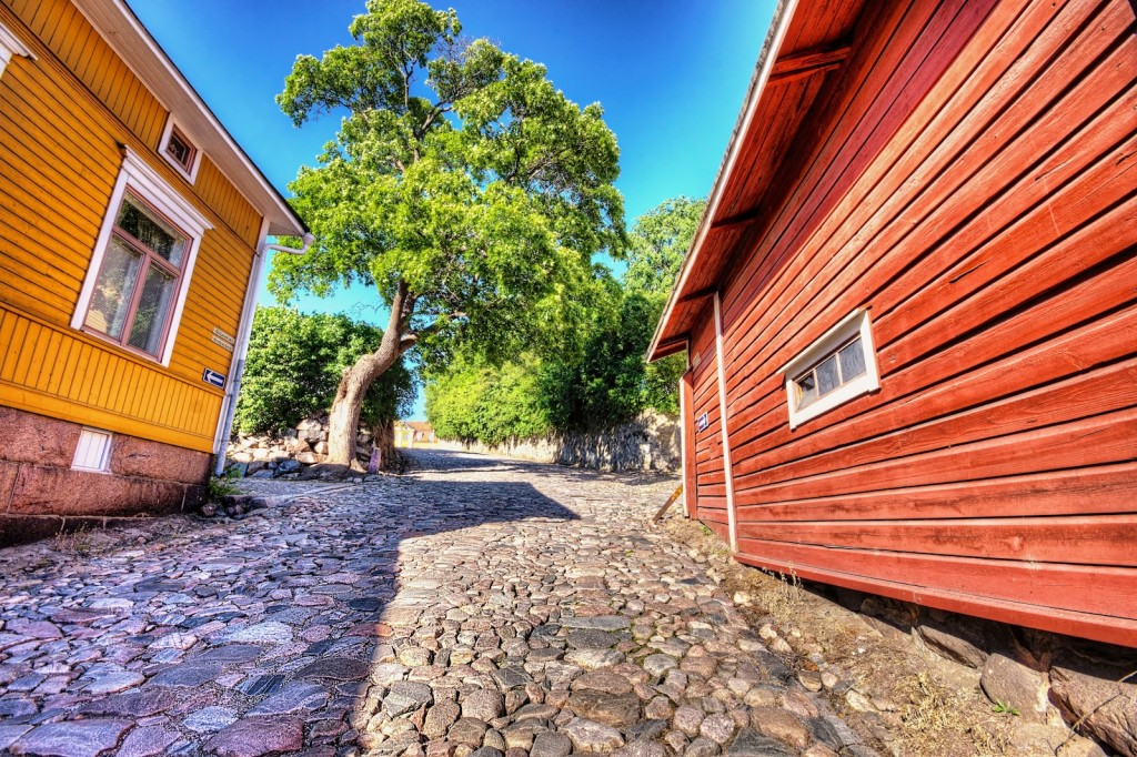 "Uphill in Porvoo for the blog post ""One way Stress"" by Chris Remspecher."