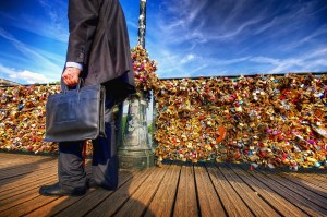 "Picture for ""The Keymaker of Pont des Arts"" by Chris Remspecher in 2014."