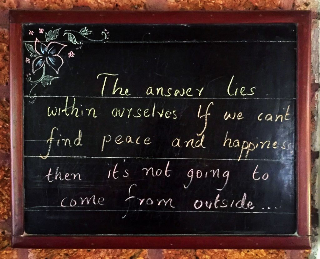 Picture by Chris Remspecher in 2016 on the way finding happiness.