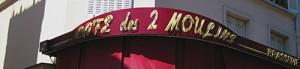 cafe dans le Rue Lepic!