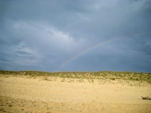 A rainbow in France at the beach